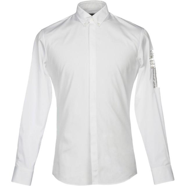 《セール開催中》DSQUARED2 メンズ シャツ ホワイト 48 コットン 100%