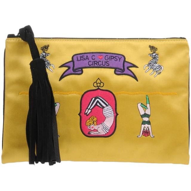 《期間限定 セール開催中》LISA C BIJOUX レディース ハンドバッグ オークル 紡績繊維 / 革