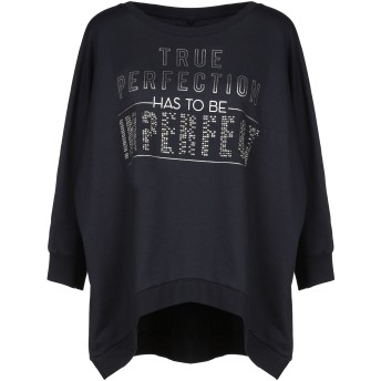 《セール開催中》!MERFECT レディース スウェットシャツ ダークブルー 1 80% コットン 20% ポリエステル