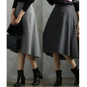 L size ONWARD(大きいサイズ) / エルサイズオンワード 【リバーシブル】T/Rボンディング スカート