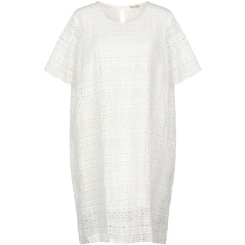 《セール開催中》EMMA & GAIA レディース ミニワンピース&ドレス ホワイト 44 ポリエステル 100%