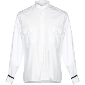 《期間限定 セール開催中》CAMO メンズ シャツ ホワイト L 100% コットン