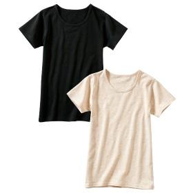 ウォームコアコットン半袖インナー2枚組(男の子。女の子 子供服。ジュニア服) キッズ下着