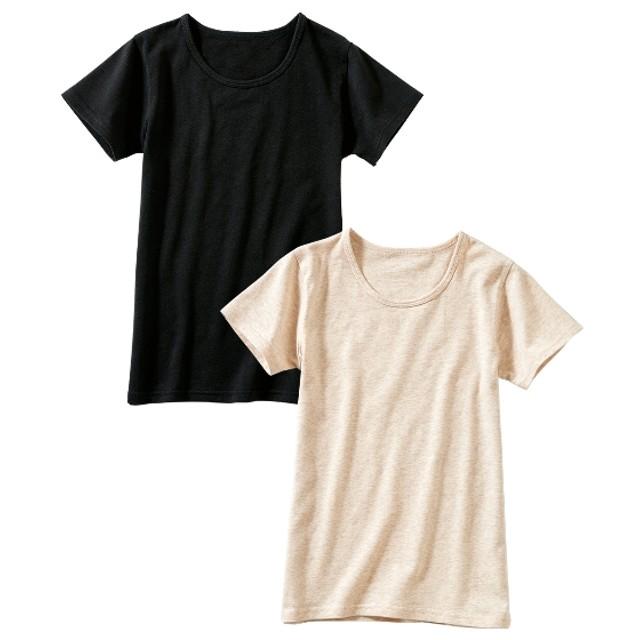 ウォームコアコットン発熱半袖インナー2枚組(男の子。女の子 子供服。ジュニア服) キッズ下着
