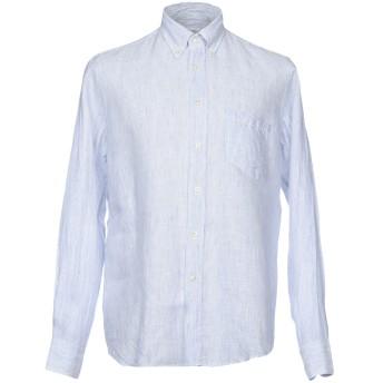 《期間限定セール開催中!》ZANETTI 1965 メンズ シャツ アジュールブルー 38 麻 100%