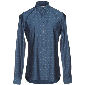 《セール開催中》CALVIN KLEIN メンズ シャツ ダークブルー 40 コットン 100%