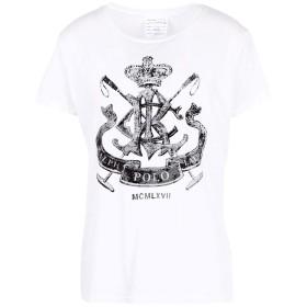 《期間限定セール開催中!》POLO RALPH LAUREN レディース T シャツ ホワイト XL コットン 100% Crest Jersey Graphic T-Shirt