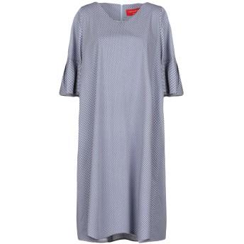 《セール開催中》CRISTINA ROCCA レディース ミニワンピース&ドレス ブルー 42 コットン 95% / ポリウレタン 5%