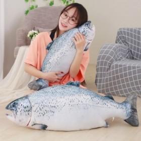 トイ 魚 ぬいぐるみ またたびトイ じゃれ猫 猫遊び 抱き枕 遊び 丈夫 面白い 可愛い ストレス解消 肥満解消 遊び道具 (鮭)60cm