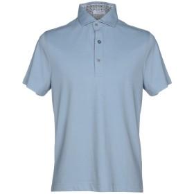 《期間限定 セール開催中》HERITAGE メンズ ポロシャツ スカイブルー 46 コットン 95% / ポリウレタン 5%
