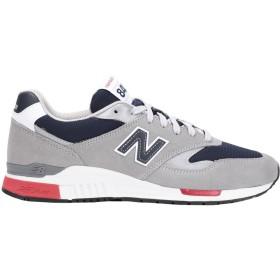 《期間限定 セール開催中》NEW BALANCE メンズ スニーカー&テニスシューズ(ローカット) グレー 7.5 革 紡績繊維 840 Suede/Mesh