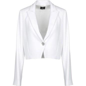 《セール開催中》CRISTINAEFFE レディース テーラードジャケット ホワイト 40 ポリエステル 98% / ポリウレタン 2%