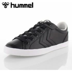 ヒュンメル レディース メンズ hummel DEUCE COURT BLACK デュースコート HM64531-2001 スニーカー カジュアル ブラック 靴