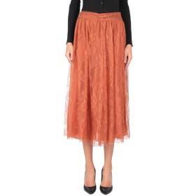 《セール開催中》VALENTINO レディース 7分丈スカート 赤茶色 8 100% シルク