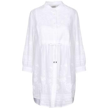 《期間限定セール開催中!》HIMON'S レディース ミニワンピース&ドレス ホワイト 42 100% コットン