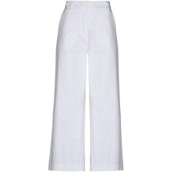 《セール開催中》HAPPY25 レディース パンツ ホワイト 42 コットン 98% / ポリウレタン 2%