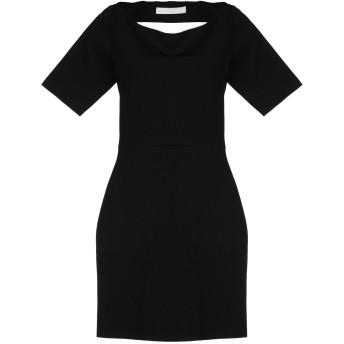 《セール開催中》DION LEE レディース ミニワンピース&ドレス ブラック 10 レーヨン 55% / ナイロン 30% / ポリウレタン 15%