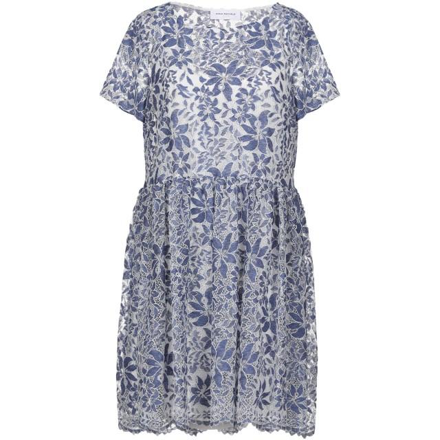 《セール開催中》ANNA RACHELE JEANS COLLECTION レディース ミニワンピース&ドレス ブルーグレー 42 ポリエステル 52% / ナイロン 35% / コットン 13%