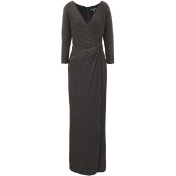 《セール開催中》LAUREN RALPH LAUREN レディース ロングワンピース&ドレス ブラック 2 ナイロン 88% / 金属繊維 8% / ポリウレタン 4%