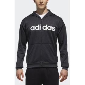 (セール)adidas(アディダス)メンズスポーツウェア ジャケット M SPORTS ID リニアロゴスウェットフルジップパーカー(裏起毛)FAT24 DH3973 メンズ ブ...