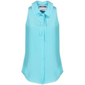 《期間限定 セール開催中》MOSCHINO レディース シャツ ターコイズブルー 40 シルク 100%