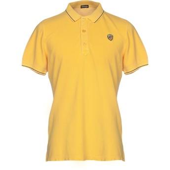 《期間限定セール開催中!》BLAUER メンズ ポロシャツ オークル S 100% コットン