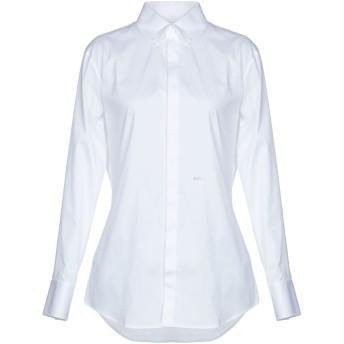 《セール開催中》DSQUARED2 レディース シャツ ホワイト 40 コットン 97% / ポリウレタン 3%