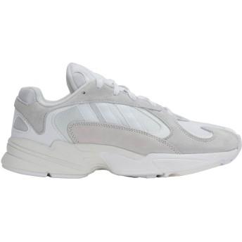 《期間限定 セール開催中》ADIDAS ORIGINALS レディース スニーカー&テニスシューズ(ローカット) ホワイト 5.5 革 紡績繊維 YUNG