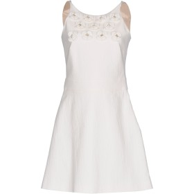 《期間限定セール開催中!》BOUTIQUE MOSCHINO レディース ミニワンピース&ドレス ホワイト 40 コットン 98% / 指定外繊維 2%