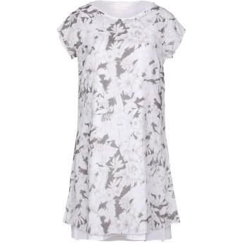 《セール開催中》ALMERIA レディース ミニワンピース&ドレス ホワイト S コットン 100%