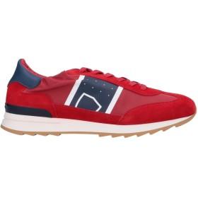 《セール開催中》PHILIPPE MODEL メンズ スニーカー&テニスシューズ(ローカット) レッド 40 革 紡績繊維