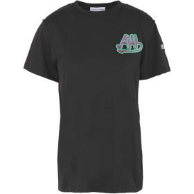 《期間限定セール開催中!》AU JOUR LE JOUR レディース T シャツ ブラック 38 コットン 100%