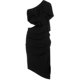 《セール開催中》ELISABETTA FRANCHI レディース ミニワンピース&ドレス ブラック 44 レーヨン 96% / ポリウレタン 4%