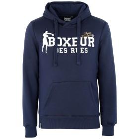 《セール開催中》BOXEUR DES RUES メンズ スウェットシャツ ダークブルー M コットン 80% / ポリエステル 20% HOODED SWEATSHIRT WITH FRONT BIG LOGO