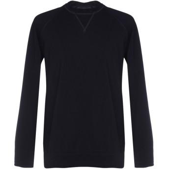 《期間限定セール開催中!》LANEUS メンズ スウェットシャツ ダークブルー S 96% コットン 4% ポリウレタン