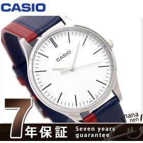チープカシオ カシオ 革ベルト バイカラー メンズ 腕時計 MTP-E133L-2EDF CASIO ブルー/レッド