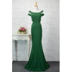 【送料無料】無地 シンプル ワンカラー ロングドレス カットショルダー 美ライン 大きいサイズ ドレス 結婚式 お呼ばれ 5l BTBA1144