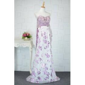 【送料無料】メタリックカラー スパンコール 刺繍 ロングドレス バイカラー 配色 大きいサイズ ドレス 結婚式 お呼ばれ 5l BTBA1081