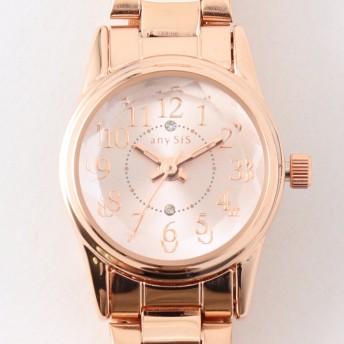 【オンワード】 any SiS(エニィスィス) 【ロゴ入り】サークルフェイス ウォッチ(腕時計) ピンク 2 レディース