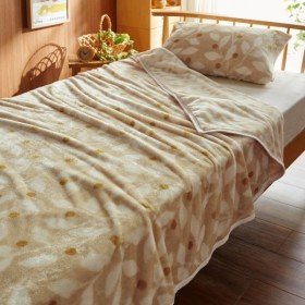 毛布 なめらかマイクロファイバーの合わせ毛布 カラー グリーンイエロー