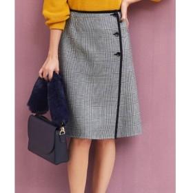 L size ONWARD(大きいサイズ) / エルサイズオンワード 【リバーシブル】ウールリバーチェック スカート