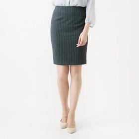 スカート レディース ロング 裏起毛あったか素材のスッキリタイトスカート[日本製] チャコール