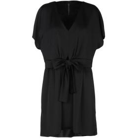 《セール開催中》MANILA GRACE レディース ミニワンピース&ドレス ブラック 38 ポリエステル 98% / ポリウレタン 2%