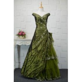 【送料無料】ロングドレス ボリューミー フリル 長袖 半袖 ベアトップ 刺繍 大きいサイズ ドレス 結婚式 お呼ばれ 5l BTBA1134