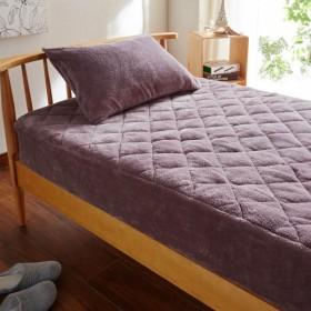 布団カバー シーツ パッド一体型ベッド用シーツ うもれたくなるモコモコボックスシーツ型敷きパッド パープル