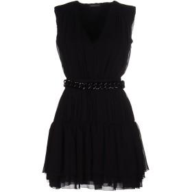 《送料無料》MANGANO レディース ミニワンピース&ドレス ブラック 44 ポリエステル 100%