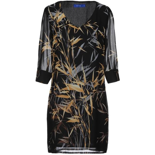 《期間限定セール開催中!》ANONYME DESIGNERS レディース ミニワンピース&ドレス ブラック XS ポリエステル 100%
