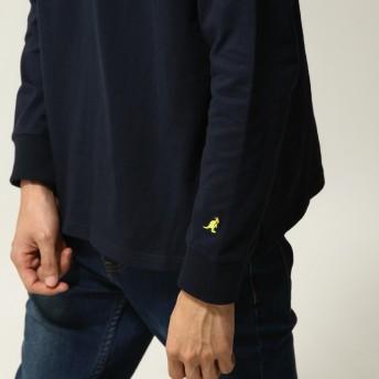 Tシャツ - ZIP CLOTHING STORE KANGOL Tシャツ メンズ カットソー 長袖 ロンT ロゴ プリント 刺繍 ワンポイント クルーネック カンゴール ZIPジップ秋秋物 秋服 【kgsa-zi1828】 春
