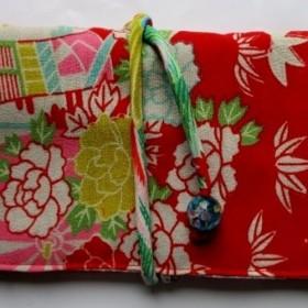 花柄の長襦袢で作った和風財布・ポーチ 3791