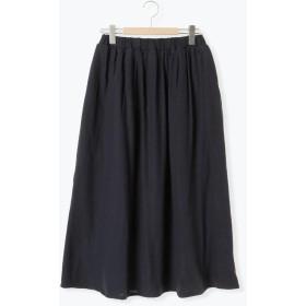 【6,000円(税込)以上のお買物で全国送料無料。】綿スラブ起毛ギャザースカート